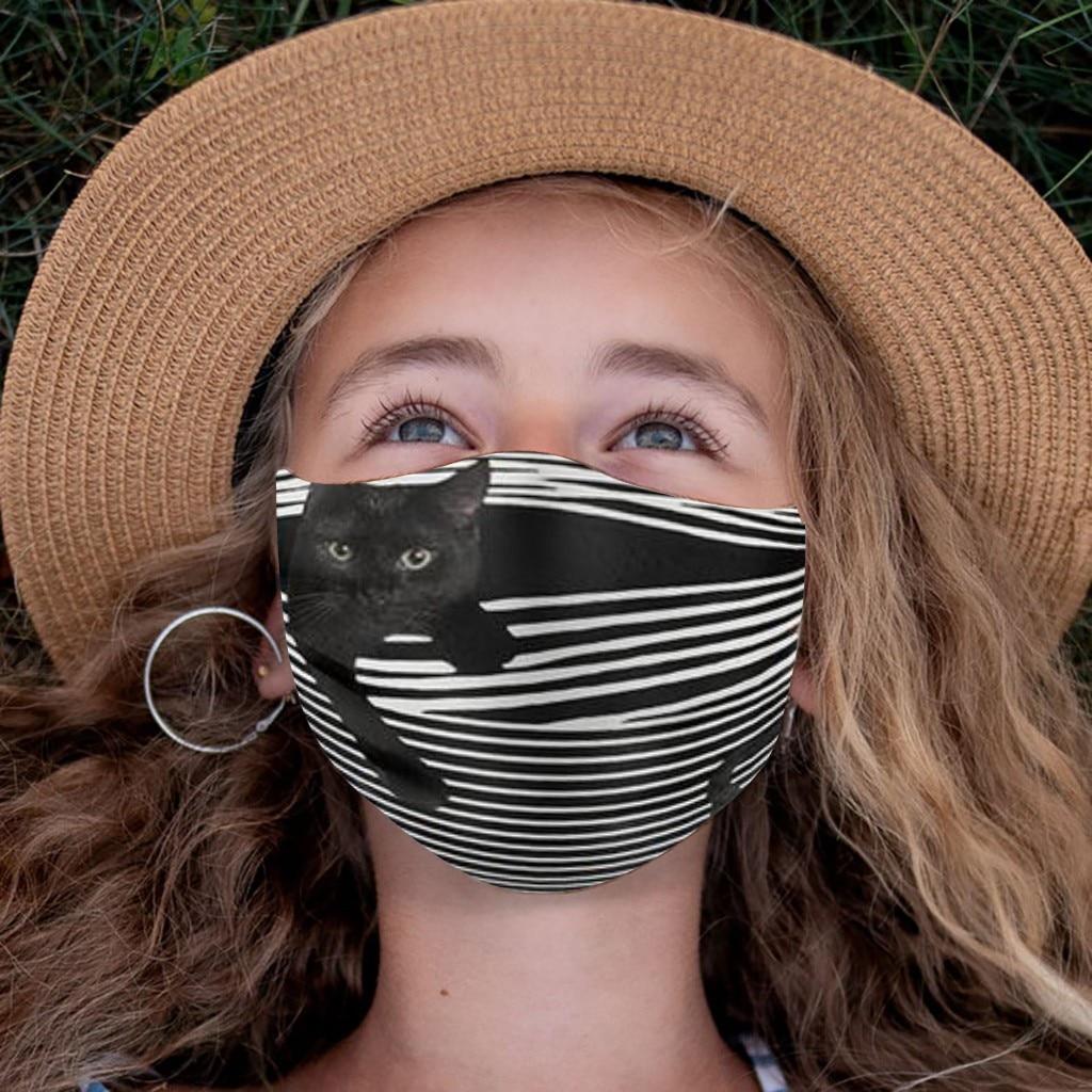 Masques buccaux pour enfants, jolis, lavables et réglables, protection contre la poussière, pour garçons et filles |