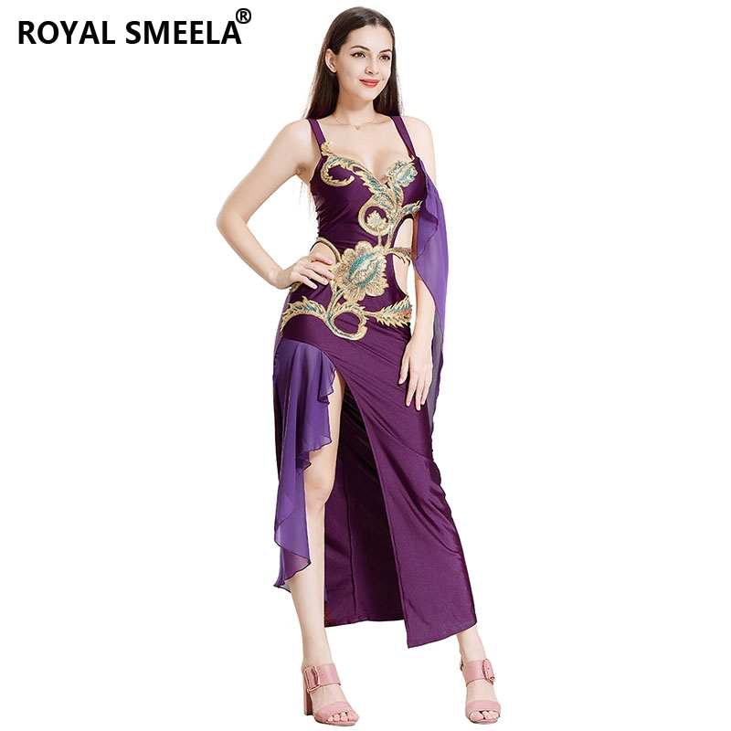 Hot Women Belly dance suit New Fashion sequin embroidery hollow out Bellydance skirt performance clothes Bellydance costumes