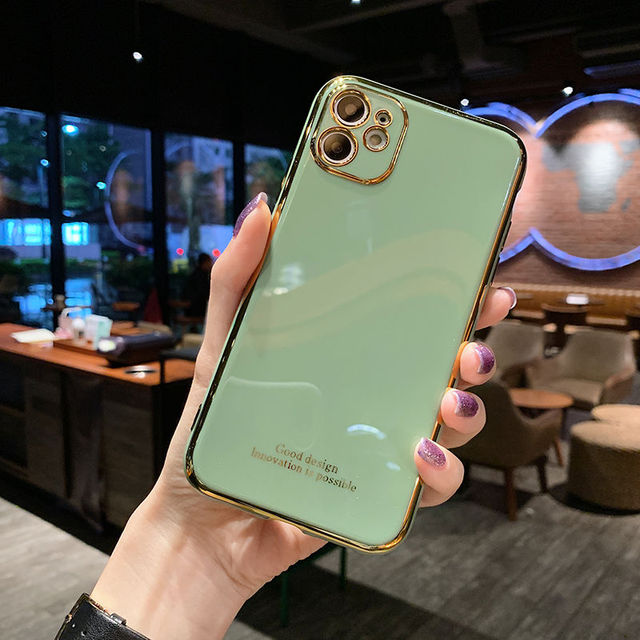 Luxury Plating Silica gel soft Mobile phone Case For iphone XR X XS Max 6 6S 7 8 Plus 12 11Pro 12mini Fashion Cell Phone 11 Case 6