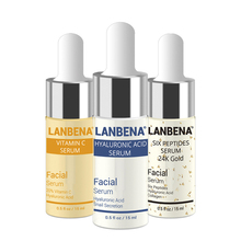 LANBENA Anti Aging Wrinkle Moisturizing Whitening Skin Care Set Vitamin C +Six Peptides Serum 24K Gold+Hyaluronic Acid
