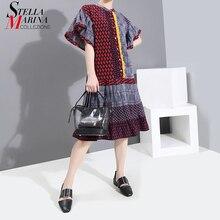 New 2020 Korean Style Women Elegant Summer Fashion Pleated D