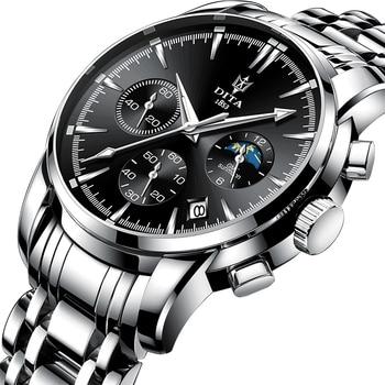 Top Brand Luxury Stainless Steel Watch Men Chronograph Sport Business Waterproof Bracelet Quartz Wristwatches Relogio Masculino