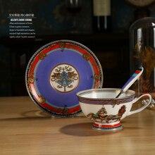 Bone China Horse Coffee Cup Premium Luxury High-grade Gold  English Afternoon Tea Cup Flower Tea Drinkware Free Shipping цена