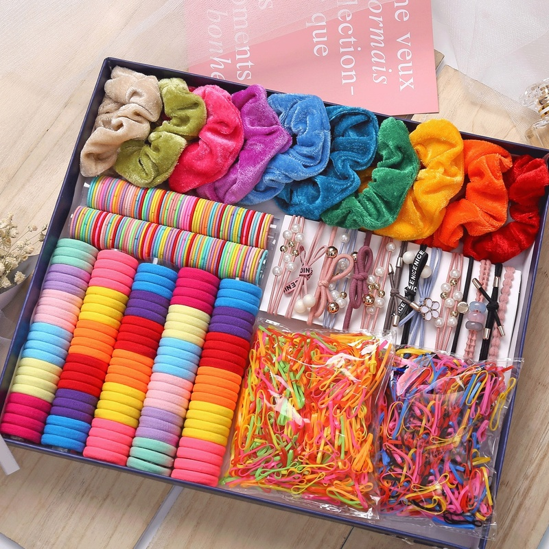 1000pcs Colors Girls Baby Hair Ring Rope Headwear Scrunchies Elastic Hair Band Kids Hair Accessories for Women Fashion Hair Tie