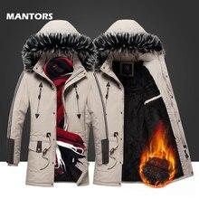 2019 ชายฤดูหนาว Parkas ปลอกคอขนยาวแจ็คเก็ตขนแกะเสื้อกันหนาวแบบสบายๆผู้ชายหนาเสื้อกันหนาวเสื้อกันหนาว SLIM FIT Hooded JACKET เสื้อ