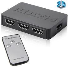 Tonbux 3x1 1080p HD HDMI ספליטר 3 נמל Hub תיבת אוטומטי מתג 3 ב 1 מתוך Switcher 1.4 עם שלט רחוק