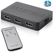 وحدة تحكم عن بعد Tonbux 3x1 1080p عالية الدقة HDMI الفاصل 3 منافذ المحور صندوق التبديل التلقائي 3 في 1 خارج المحول 1.4 مع جهاز التحكم عن بعد