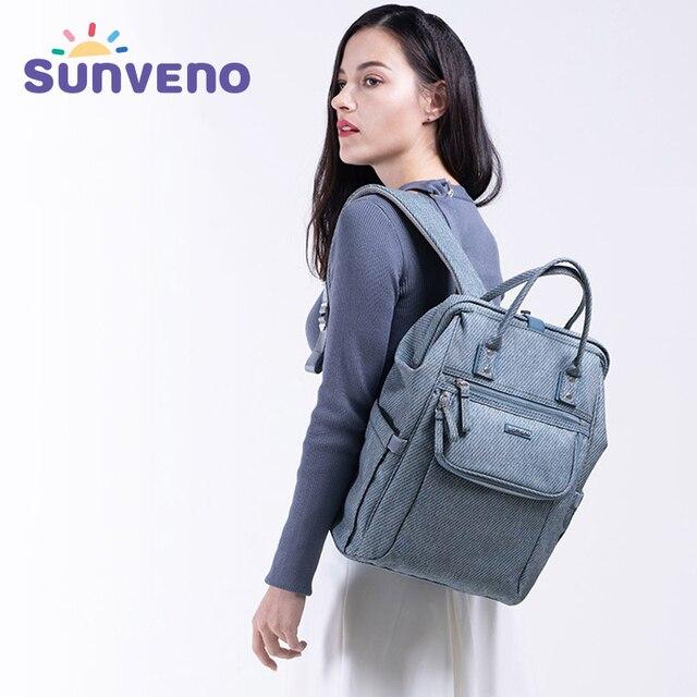 Sunveno New Diaper Bag Zaino di Grande Capienza Del Sacchetto Del Pannolino Impermeabile Kit Mummia Maternità Zaino Da Viaggio Borsa di Cura