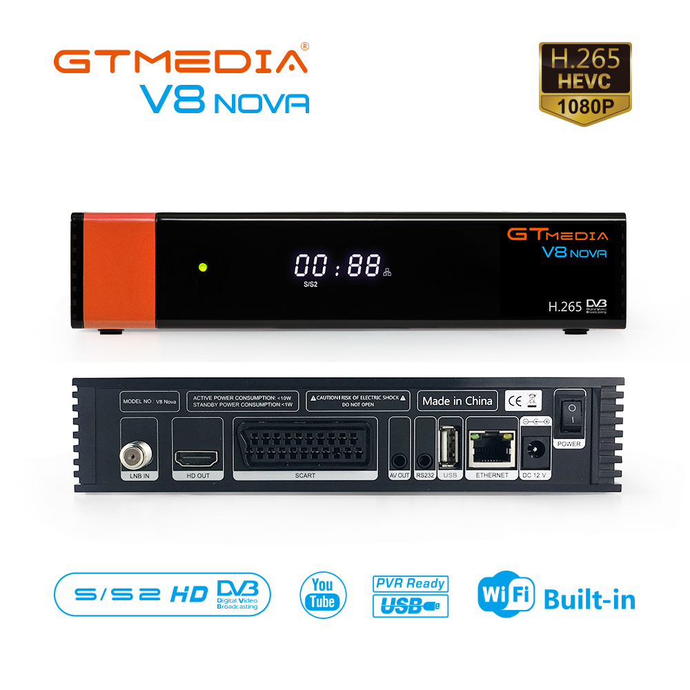 Gtmedia V8 NOVA Satellite TV Empfänger DVB-S2 Scart mit 5 Linien spanien Europa ccam Gebaut in Wifi TV Box Freesat satellite Decoder