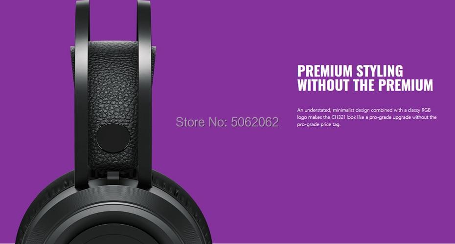 Cooler master ch321 ultralight gaming headset suspensão