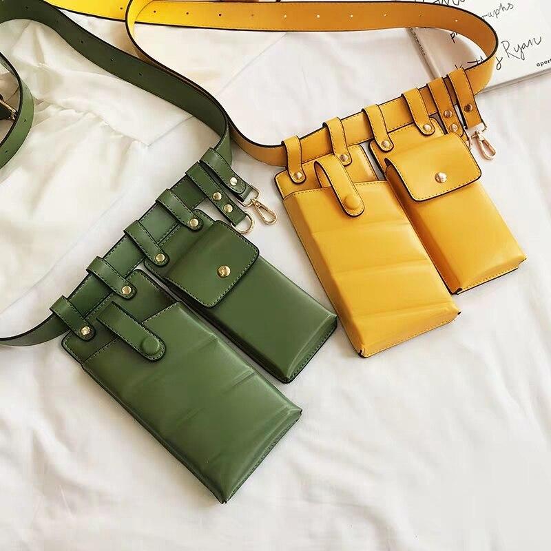 Fashion Women Waist Bag Leather Waist Belt Bag Crossbody Chest Bags Girl Fanny Pack Small Phone Pack Luxury Shoulder Strap Packs