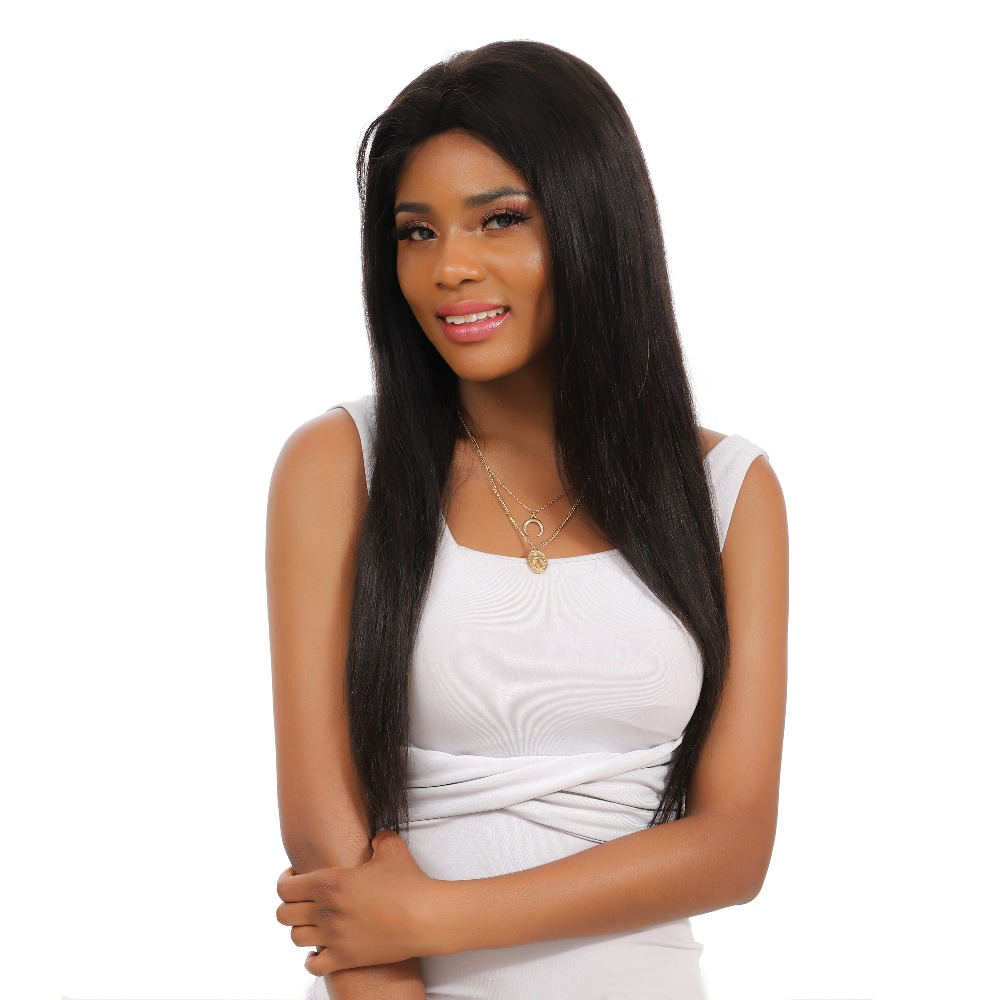 H9e2d4698288b4624bea79d72a793d9aa7 10-28 inch wigs Brazilian 4x4 Closure Wig 100% Human Hair Lace Wigs Long Straight Remy Lace Closure Wigs for Woman 150 Density