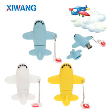 New Super mini Cartoon aircraft USB Flash Drive 128GB 64GB 32GB 16GB 8GB pendrive pen drive Cute gift flash 2.0 memory stick