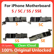 Original Motherboard For iPhone 5 / 5C / 5S / SE Unlocked Motherboard Cloud Clean Mainboard Logic Board With OS System Good