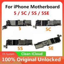 Оригинальная материнская плата для iPhone 5 / 5C / 5S/SE, разблокированная материнская плата Cloud Clean, материнская плата с хорошей системой OS