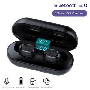 Новые беспроводные наушники Bluetooth 5,0, спортивные стереонаушники, беспроводные наушники, водонепроницаемая гарнитура для IPhone, Xiaomi