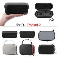 Mini estuche de transporte portátil para DJI Pocket 2, bolsa de almacenamiento de cardán de mano, caja de protección impermeable de PU, accesorios de cámara de cardán