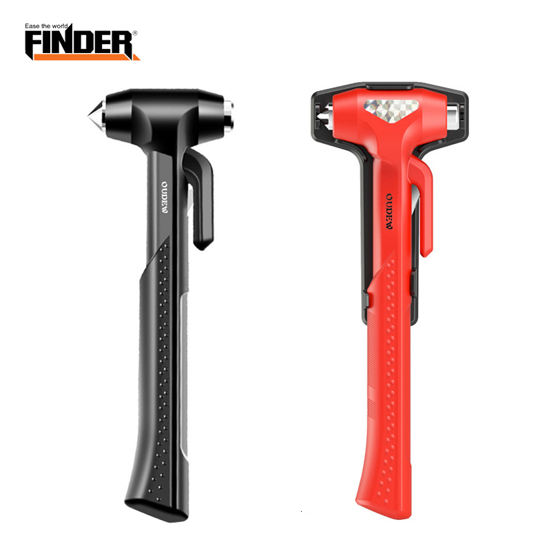 Carbon Steel Car Safety Life Hammer Auto Emergency Escape Rescue Tool Seatbelt Cutter Window Punch Glass Breaker Long Handle