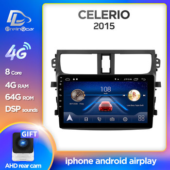 Prelingcar Android 10.0 For SUZUKI CELERIO 2015 16 17 18 Car Radio Multimedia Video Player GPS Navigation NO 2 din DVD Octa-Core image