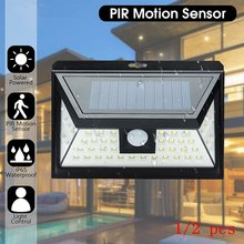 1/2 pcs 44 LED Outdoor Solar Powered Wall Lamp Motion Sensor Light Three Modes Waterproof Drop shipping