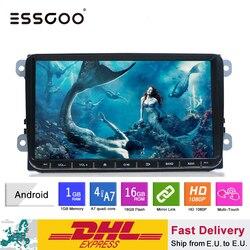 Essgoo Android 9 coche Multimedia Player navegación GPS 2 din Autoradio 2din vídeo estéreo MP5 Radio del coche para Volkswagen Universal