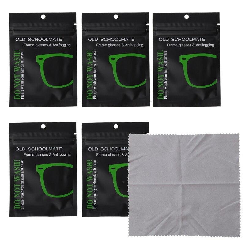 Новинка 5 шт. многоразовые противотуманные салфетки для очков предварительно увлажненные противотуманные салфетки для линз противотуманн...