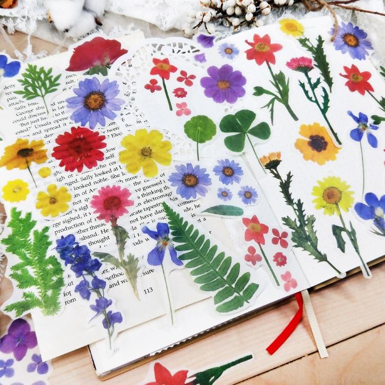 40 Pcs/pack Fresh Spring Blooming Flowers Washi Stickers Bag Decorative Scrapbooking Bullet Journal Sticker Diy School Office