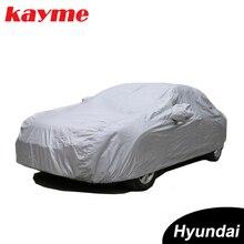 Kayme completa carro cobre dustproof ao ar livre indoor uv neve resistente à proteção solar poliéster capa universal para hyundai