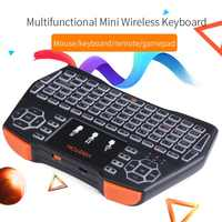 2.4GHz Wireless LED Colorful Backlit Keyboard Multi-touch Pad Air Mouse Gamepad For PC Laptop Tablet