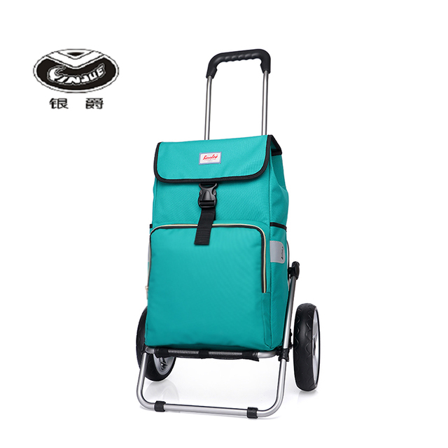Yinjue shopping cart Travel backpack dismantling folding and large capacity Weekend outdoors outing Aluminum Alloy trolley bags