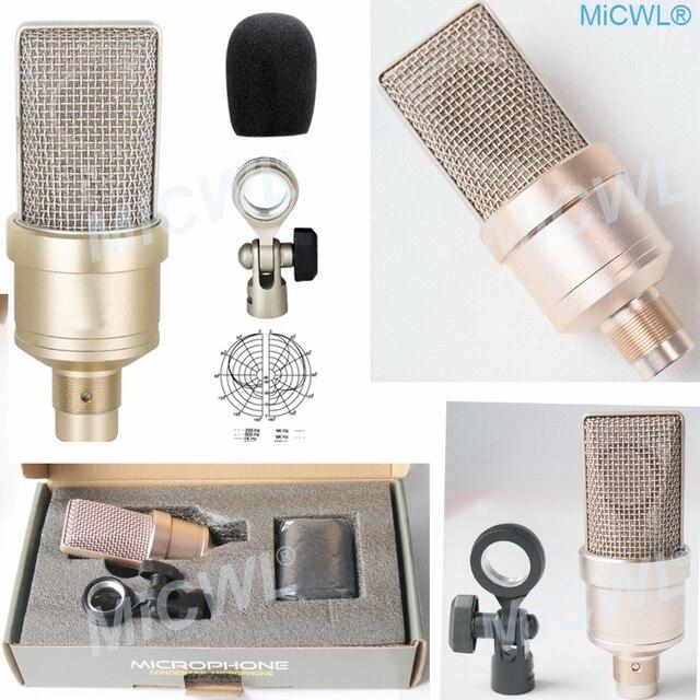 Groot Membraan Cardioid Condensator TLM102 Microfoon Voor Netwerk Pc Podium Zingen Record Microfoon Micwl