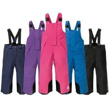 2020 new outdoor children's boys and girls suspenders ski pants cotton pants waterproof windproof warmth thickened