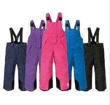 2020 новые уличные детские лыжные штаны на подтяжках для мальчиков
