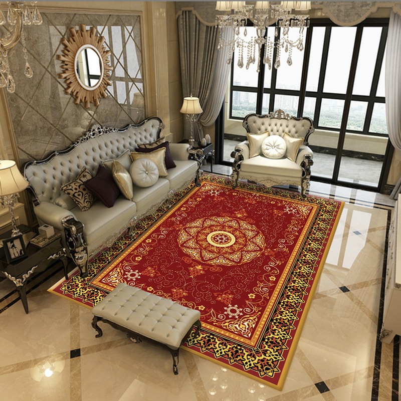 Carpet Floor-Mat Persian Bedroom Geometric-Printed Anti-Slip Living-Room Kitc The