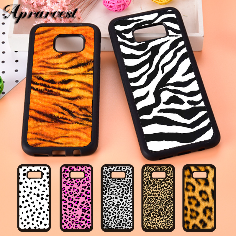 Aprarvest Animal Print Leopard Cat Cheetah Zebra Phone Case Cover For Samsung S5 S6 S7 edge S8 S9 Plus S10 S10E Note 5 8 9 10 image