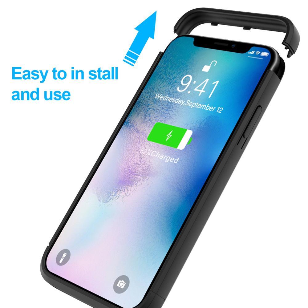 Image 5 - IPhone 11 SE 5 5S 배터리 충전기 케이스 4000mAh 외부 전원 은행 충전 커버 iPhone XS 7 8 plus 6 6S 배터리 케이스배터리 충전 케이스전화기 & 통신 -