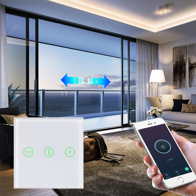 EU UK curtain switch wifi wall switches Smart Roller Blinds Switch for Curtain motor home smart system