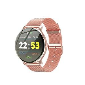 Image 5 - Le Donne Nobili di modo Astuto Della Vigilanza LV88S Per La Ragazza regalo Signore di fitness Orologi in pelle Impermeabile Smartwatch Donna Orologio Android IOS