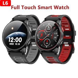 2020 L6 inteligentny zegarek inteligentne zegarki z Bluetooth kobiety mężczyźni sport Smartwatch inteligentny zegarek tętna wodoodporny opaska monitorująca aktywność fizyczną inteligentny zegarek dla Android IOS