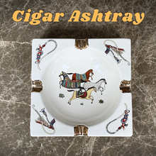 Handmade Art Grid Pattern Ceramic Cigar Ashtray Nice Luxury Smoke Ash Tray Holder Cigars Home Table Desk Accessories Decor Gifts