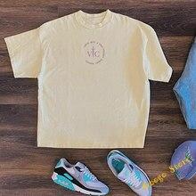 T-shirt en tissu abricot lourd surdimensionné pour hommes et femmes, 1:1, meilleure qualité, Kanye West VOUS, cadeau, Service du dimanche
