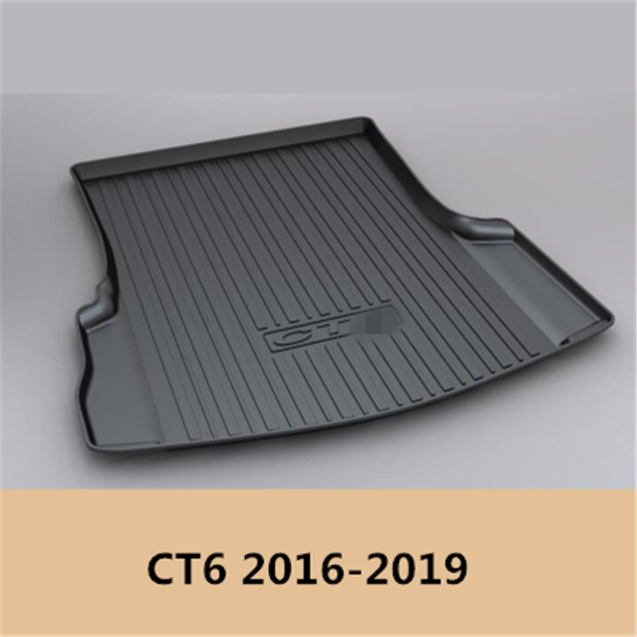 YJ99 Custom Fit For Cadillac CT6 2016 2017 2018 2019 TPO Car Cargo Rear Trunk Mat Boot Liner Tray All Weather Waterproof
