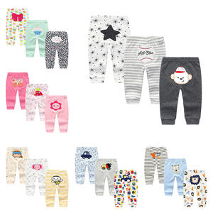 2020 Newest Baby Trousers Fashion Cotton Infant Leggings 3Pcs/sets Newborn Boy Pants Baby Girl Clothing 0-24 M Baby Pants