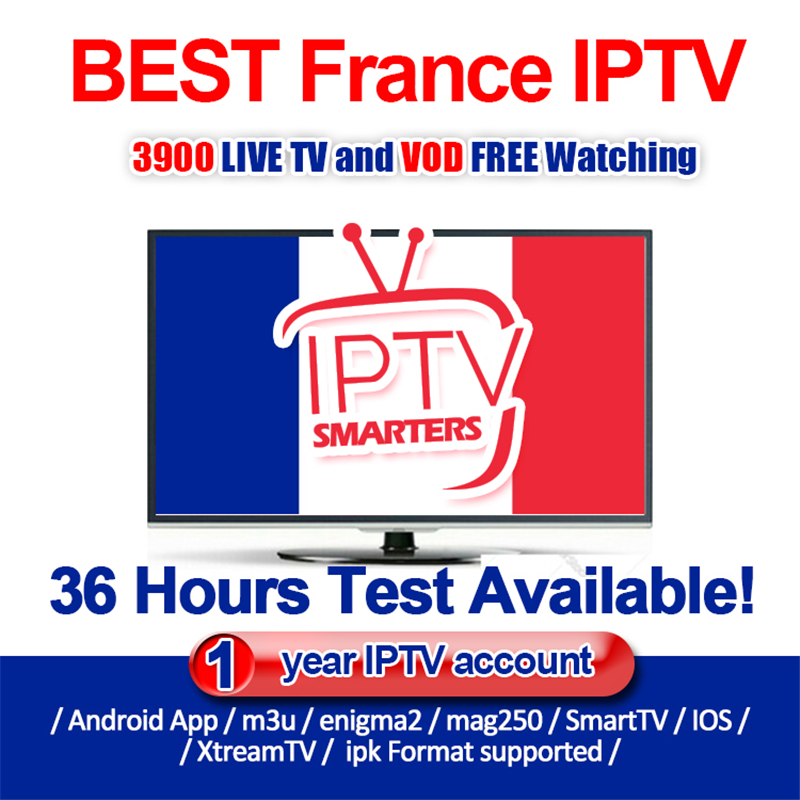 Best France IPTV Subscription For Android TV BOX 3900 Live VOD Channels HD FHD Europe Arabic Channels Support M3u Mag250 Enigma2