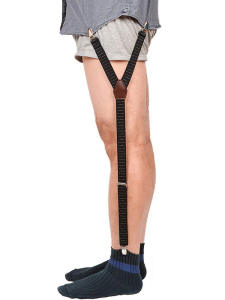 Shirt Stays Straps-Sock Leg-Suspenders Garters Non-Slip-Clamps Military Adjustable Elastic
