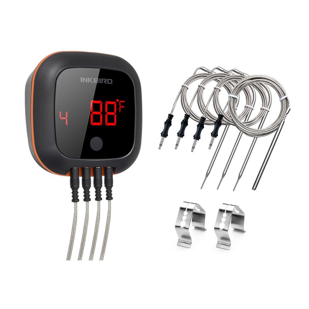 INKBIRD IBT-4XS цифровым вращающимся чтения Экран барбекю мясо Пособия по кулинарии термометр подключение через Bluetooth, выполненный в привлекатель...
