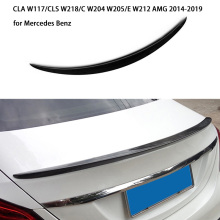 Car Rear Spoiler for Mercedes Benz CLA W117/CLS W218/C W204 W205/E W212 AMG 2014-2019 Carbon Fiber Car Spoiler Wing Car-styling cla220 cla250 cla260 car trunk rear letters badge emblem logo sticker for mercedes benz cla class w117 w204 w203 w211 w210 w212