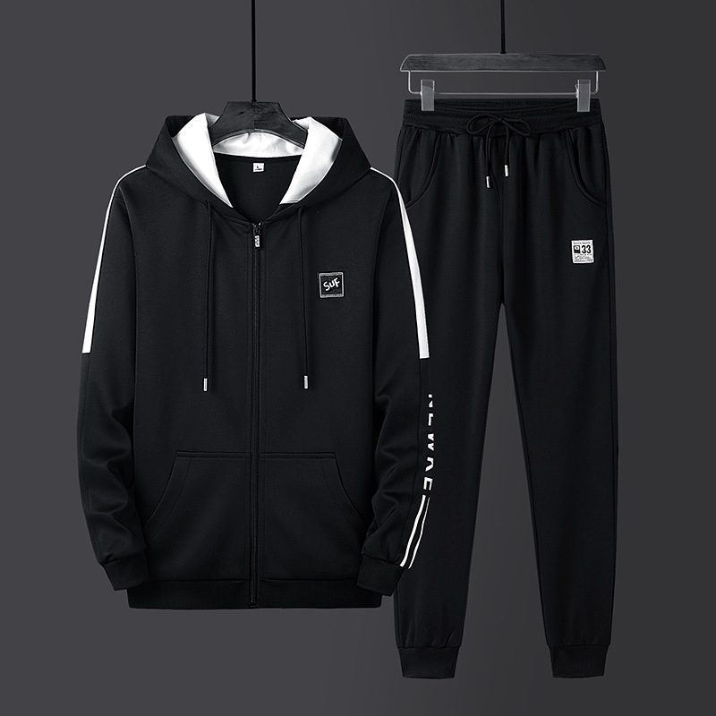 Large Size Men'S Wear Spring And Autumn Men Leisure Sports Suit Printed Hoodie Fashion Men's Sweatshirts & Hoodies Coat Trousers