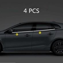Автомобильные аксессуары из нержавеющей стали оконная крышка отделка края крышки стойки зеркала для VOLVO V40