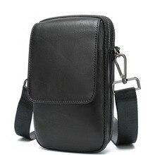 Casual Genuine Leather Messenger Bag Men Small Bag For Man Phone Bag Male Shoulder Bag Luxury Designer Mens Crossbody Bag